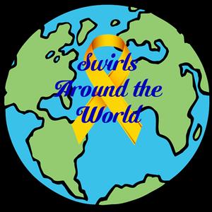 Swirls around the world Logo