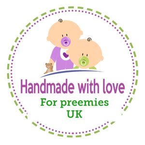Handmade with love for Preemies uk Logo