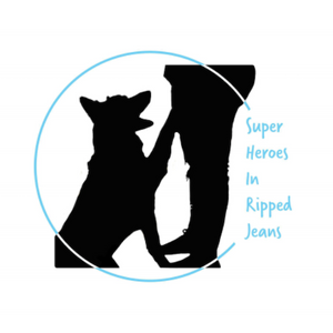 Super heroes in ripped jeans Logo