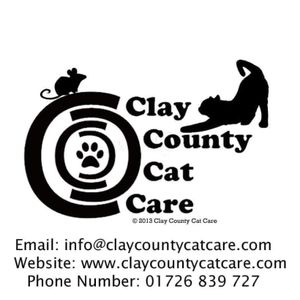 Clay County Cat Care - UK, Cornwall Logo