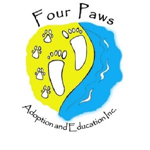 Four Paws Adoption and Education Inc Logo