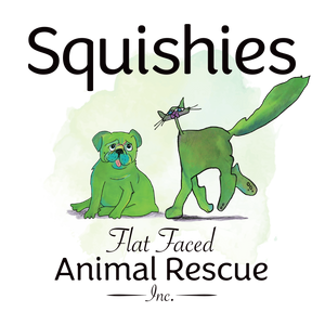 Squishies Flat Faced Animal Rescue Incorporated Logo