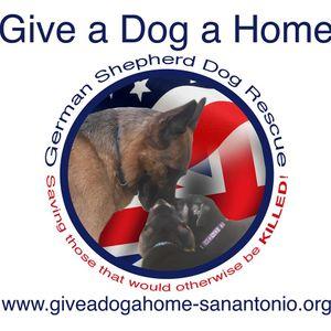 Give a Dog a Home, German Shepherd Dog Rescue Logo