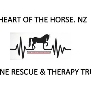Heart of the Horse. NZ  Equine & Rescue Therapy Trust Logo