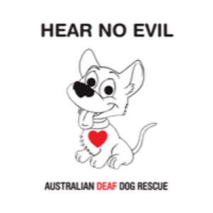 Hear No Evil Aust Deaf Dog Rescue Logo